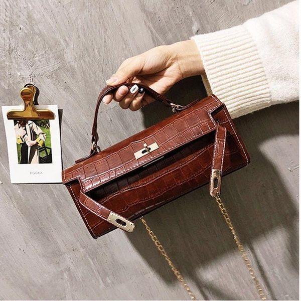 Platinum bag female new crossbody bag retro stone pattern fashion shoulder bag NHPB178520