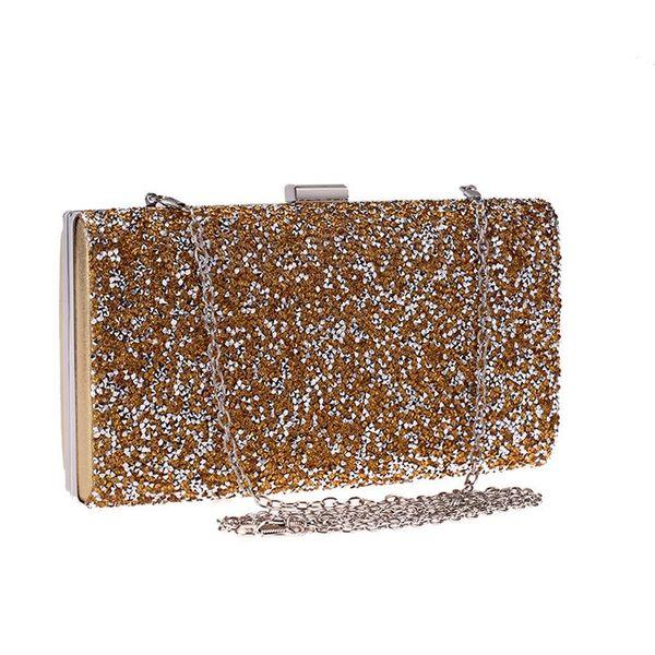 Dinner bag with diamonds women's clutch bag hard box small square bag dress banquet bag NHYG178956