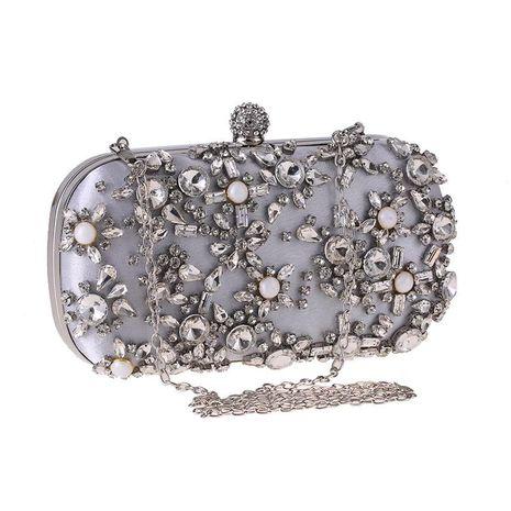 Dinner bag banquet fashion clutch bag diamond dress bag square box small square bag NHYG178972's discount tags