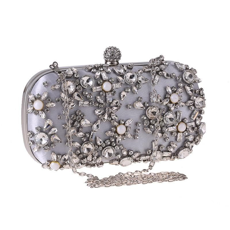 Dinner bag banquet fashion clutch bag diamond dress bag square box small square bag NHYG178972