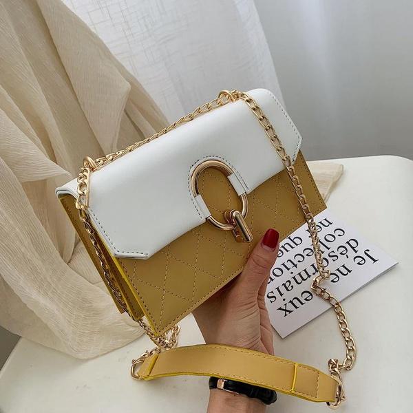 Chain bag female Messenger bag new small bag casual hit color small square bag handbag NHPB178727