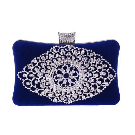 New fashion exquisite rhinestone banquet bag velvet hard shell evening bag luxury clutch bag wholesale handbag NHYG178958's discount tags