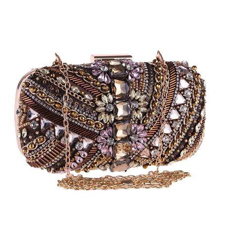 Bag female new handmade beaded evening dress dress banquet bag set diamond clutch NHYG178984's discount tags