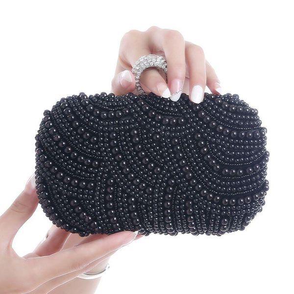 Pearl Diamond Dinner Banquet Bride Wedding Hand Take Chain Bag Ring Buckle Lady Bag NHYG178990