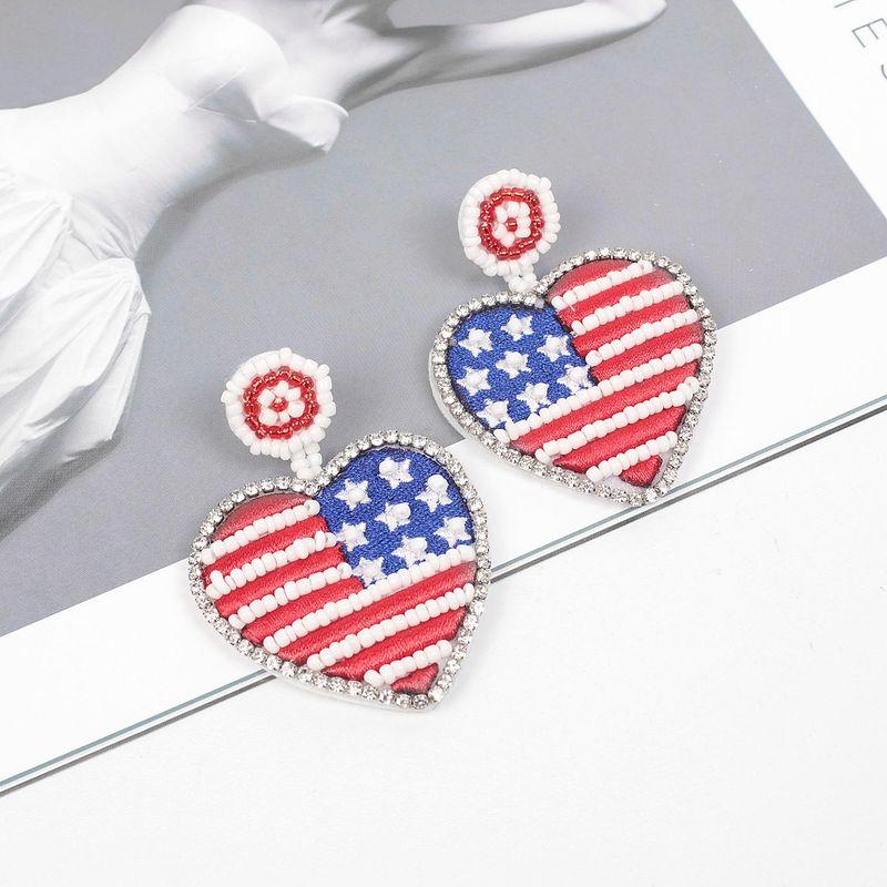 Simple new flag geometric pattern earrings earrings Miyuki Mizhu ladies earrings NHME178792