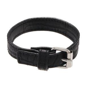 Pulsera ajustable de hebilla de cinturón de cuero negro de tendencia retro NHZU178808's discount tags