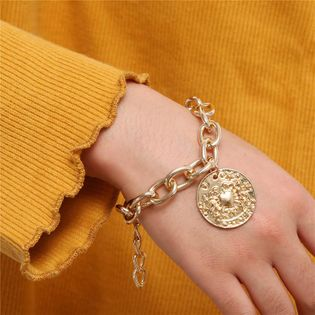 Bracelet géométrique pendentif en chaîne simple en alliage NHZU178814