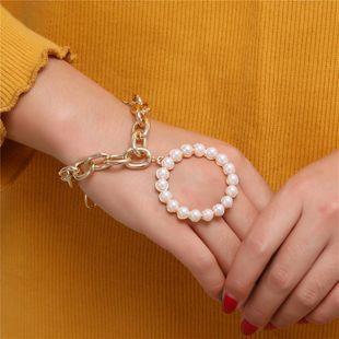 Pulsera de cadena de aleación de moda con perlas NHZU178823's discount tags