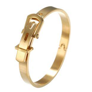 Moda de acero de titanio hebilla de cinturón tendencia ajustable pulsera de cuatro colores NHZU178811's discount tags