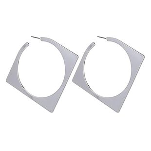 Pendientes geométricos de oro y plata con forma de diamante NHZU178841's discount tags