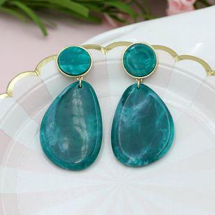 Dulces, frescos y encantadores accesorios de aretes en forma de gota de resina azul lago NHZU178844's discount tags