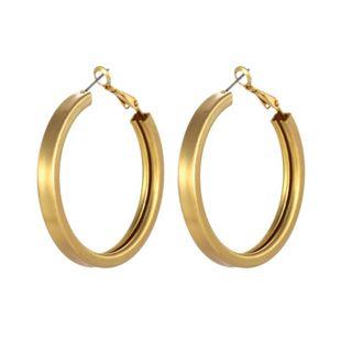 Joyería de moda caliente de aleación de plata de oro chapado atmósfera hueca simples pendientes femeninos NHZU178857's discount tags