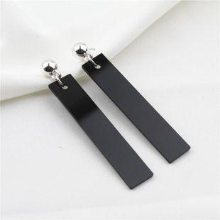 Moda pendientes geométricos cuboides negros joyería femenina NHZU178859's discount tags