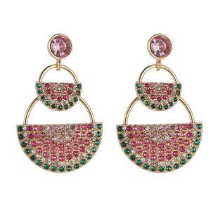 Sweet and cute diamond-sized watermelon geometric earrings accessories female NHZU178845's discount tags