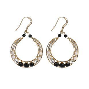 Pendientes de gota de geometría ovalada de diamantes de tendencia retro accesorios moda joyería femenina simple NHZU178851's discount tags