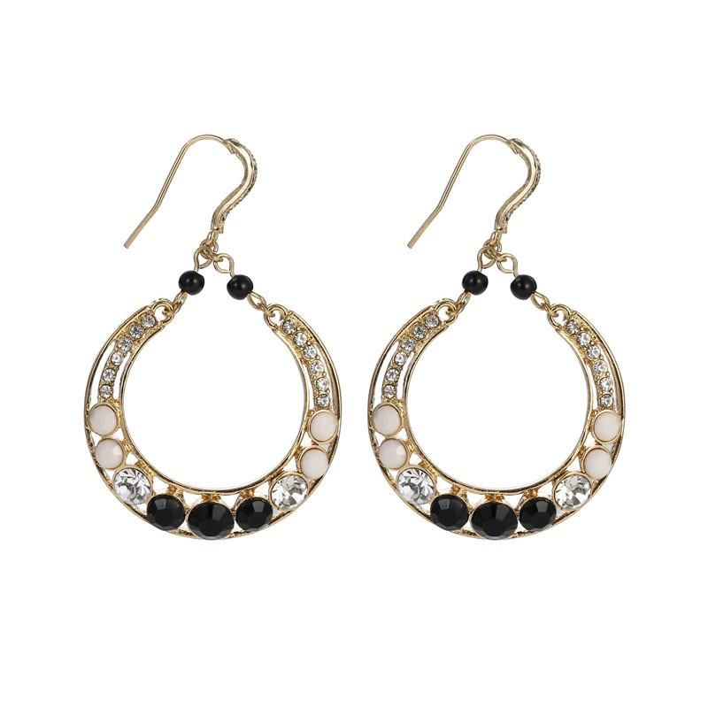 Retro trend diamond oval geometry drop earrings accessories fashion simple female jewelry NHZU178851
