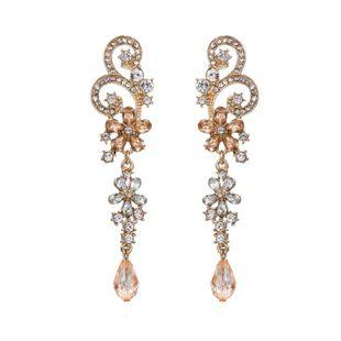 Pendientes colgantes de cristal hueco de diamantes de imitación vintage temperamento de lujo joyería geométrica femenina NHZU178863's discount tags