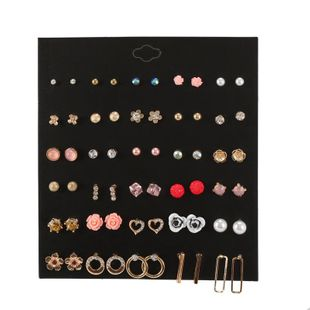 Moda color flor perla rhinestone pendientes de combinación geométrica NHZU178794's discount tags
