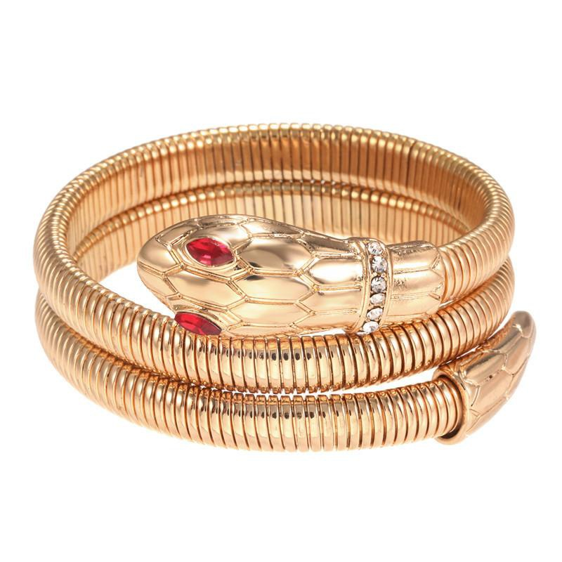 Punk wind serpentine multi-layer circle magnet bracelet NHZU178819