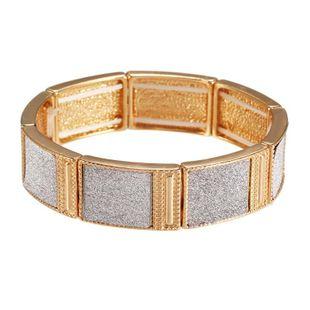 Elegante y simple pulsera de aleación geométrica cuboide NHZU178821's discount tags