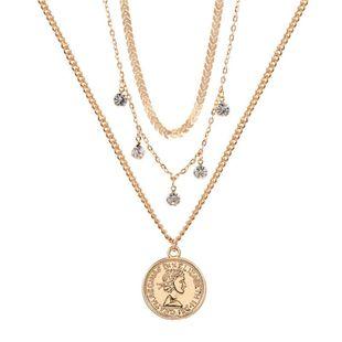 Joyas Bohemia Multicapa Diamante de imitación Cabeza de mujer Colgante Collar geométrico Mujer NHZU178800's discount tags
