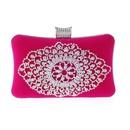 New fashion exquisite rhinestone banquet bag velvet hard shell evening bag luxury clutch bag wholesale handbag NHYG178958