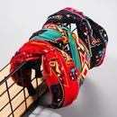 Headband female fashion printed fabric knotted screw knot headband NHLN178873