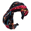 Headband female fashion printed fabric knotted screw knot headband NHLN178873
