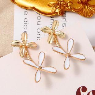 Explosion models long earrings fashion plant ear temperament full diamond flower earrings women wholesale NHKQ179043's discount tags