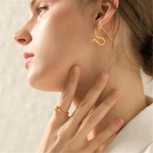 Creative simple and delicate earrings curved snake earrings female NHYQ179261's discount tags
