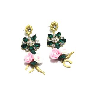 Baroque earrings full of porcelain flower multicolor fashion earrings NHWJ179302's discount tags