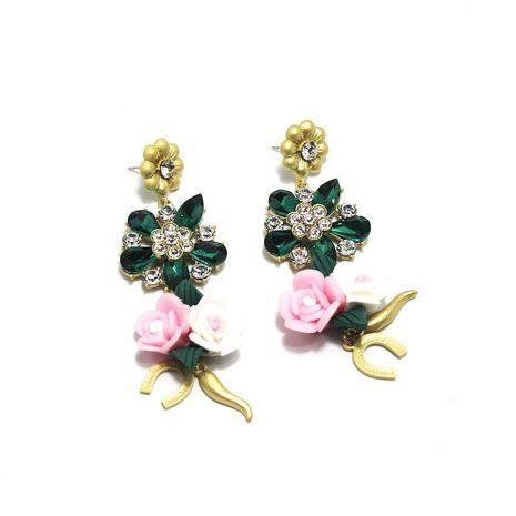 Baroque earrings full of porcelain flower multicolor fashion earrings NHWJ179302's discount tags
