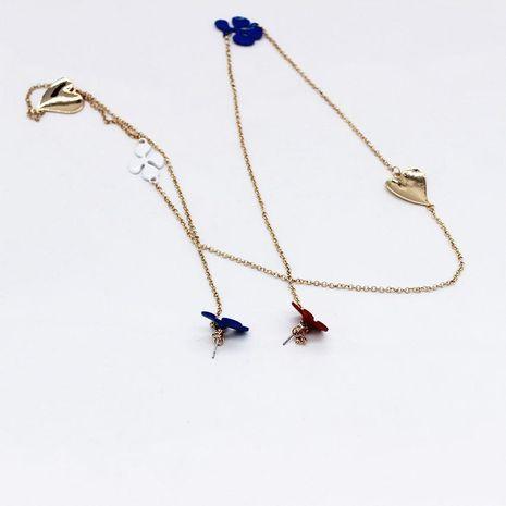 Nueva temperamento de moda pendientes de cadena siameses trébol de cuatro hojas estrellas de luna pendientes siameses NHWJ179310's discount tags
