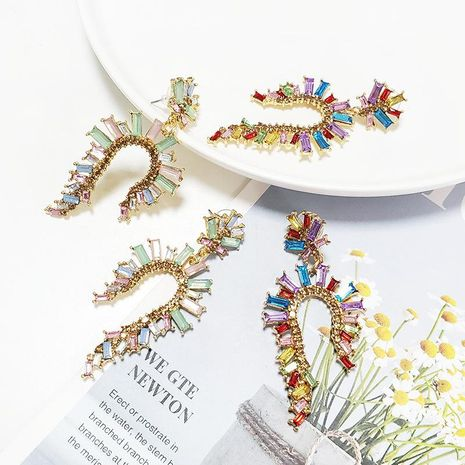 Nuevos pendientes de flor de joyería de moda NHJJ178991's discount tags