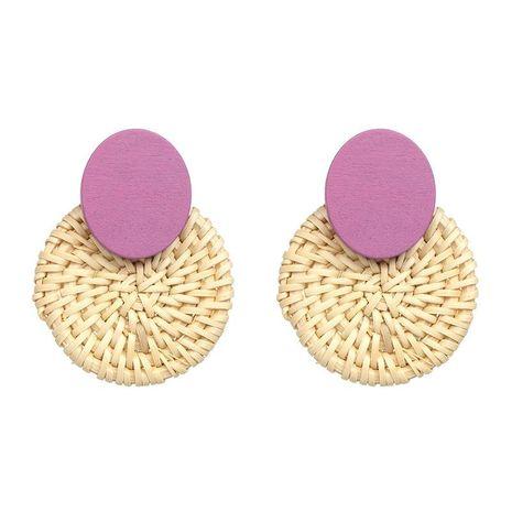 New straw wood earrings high quality earrings NHJJ178993's discount tags
