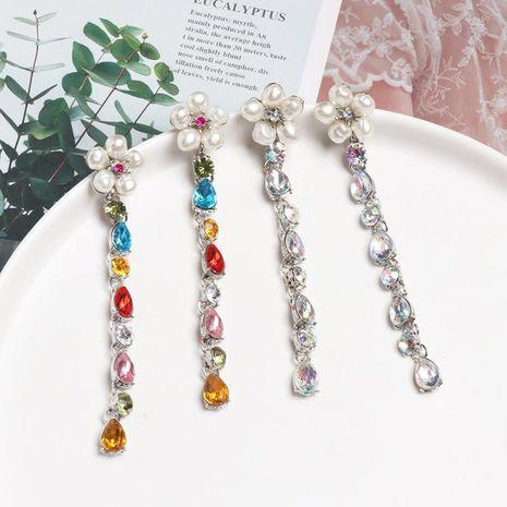 Pendientes calientes diamantes de colores que gotean pendientes exagerados femeninos NHJJ179000's discount tags
