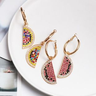 Alloy diamond earrings earrings fruit exaggerated earrings NHJJ179006's discount tags