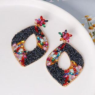 Geometric Diamond Earrings Vintage Earrings Joker Stud Earrings NHJJ179011's discount tags