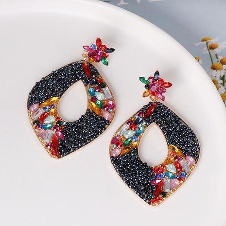 Pendientes geométricos de diamantes Pendientes vintage Pendientes de joker NHJJ179011's discount tags