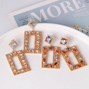 Geometric Diamond Earrings Vintage Earrings Joker Stud Earrings NHJJ179012's discount tags