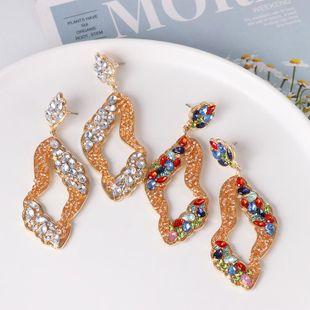 Geometric Diamond Earrings Vintage Earrings Joker Stud Earrings NHJJ179013's discount tags