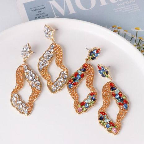 Pendientes geométricos de diamantes Pendientes vintage Pendientes de joker NHJJ179013's discount tags