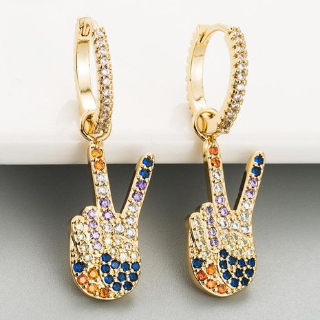Aretes para mujer de victoria de dedo pendientes de microcircuito de color de microconjunto de cobre femenino pendientes de moda personalizados NHLN179243's discount tags