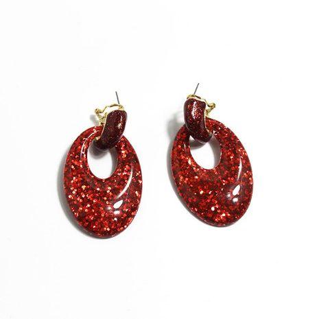 Nuevos pendientes de acrílico de dos colores con forma de corazón de durazno pendientes de novia NHWJ179292's discount tags