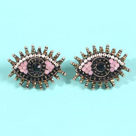 Nouveaux bijoux créatifs exagérés boucles d'oreilles diamant oeil de diable NHMD179074's discount tags