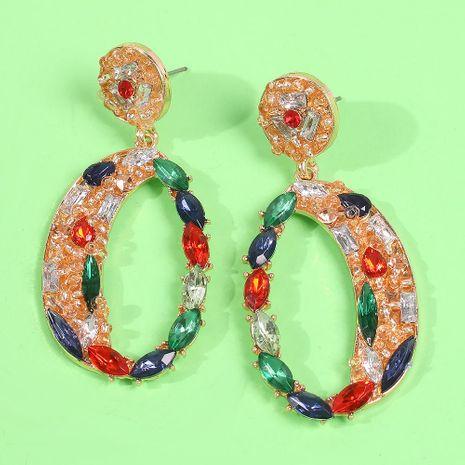 Pendientes de diamantes de vidrio de alta gama de joyería caliente de moda pendientes geométricos creativos transfronterizos NHMD179078's discount tags