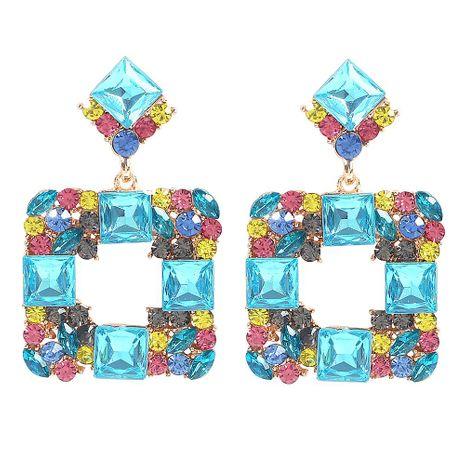 Pendientes retro de diamantes de vidrio cuadrado geométrico nuevo de moda de joyería NHMD179079's discount tags