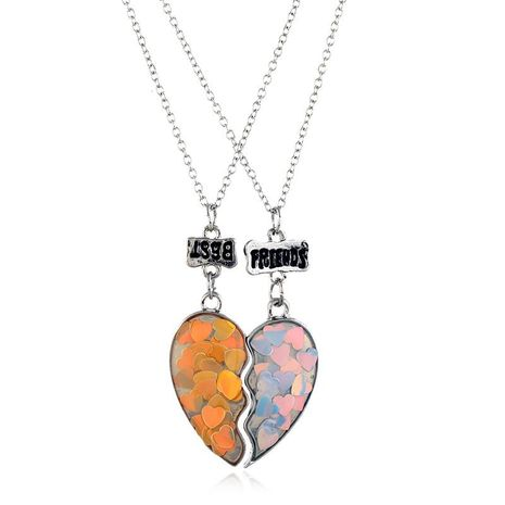 Couple Necklace Heart Necklace Fashion Alloy Pendant NHKQ179045's discount tags