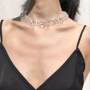 Luxury handmade beaded crystal clavicle chain Choker fashion flower necklace NHYQ179268's discount tags
