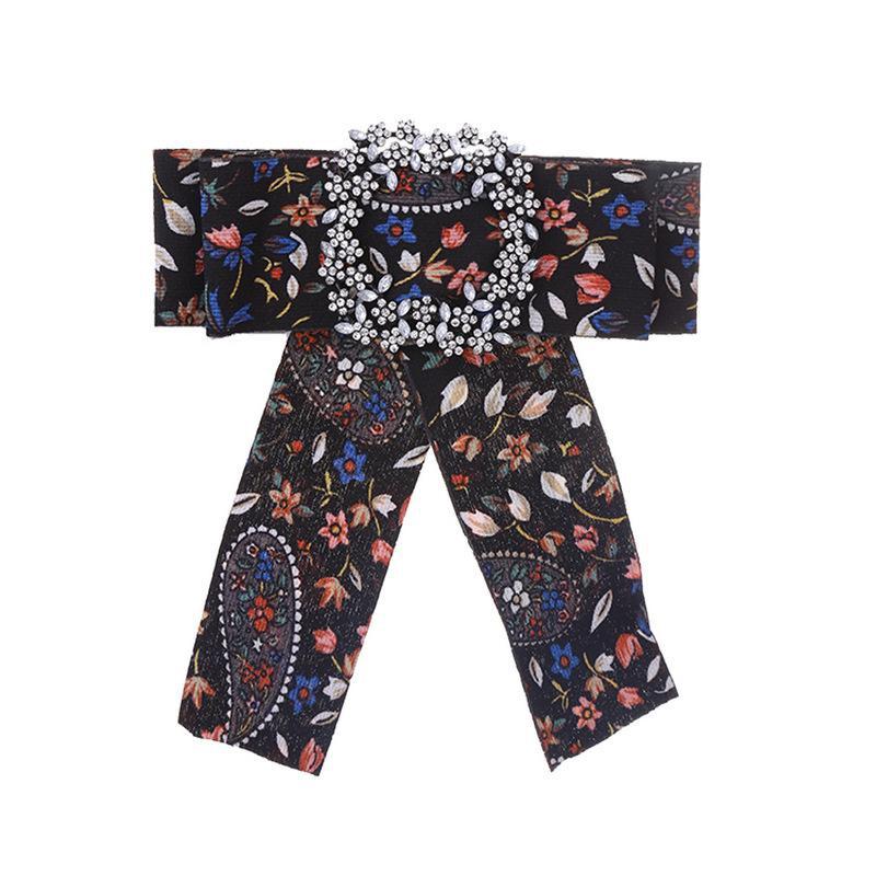 Corbata para mujer corbata de lazo broche de flores broche ropa accesorios de moda NHKC179221